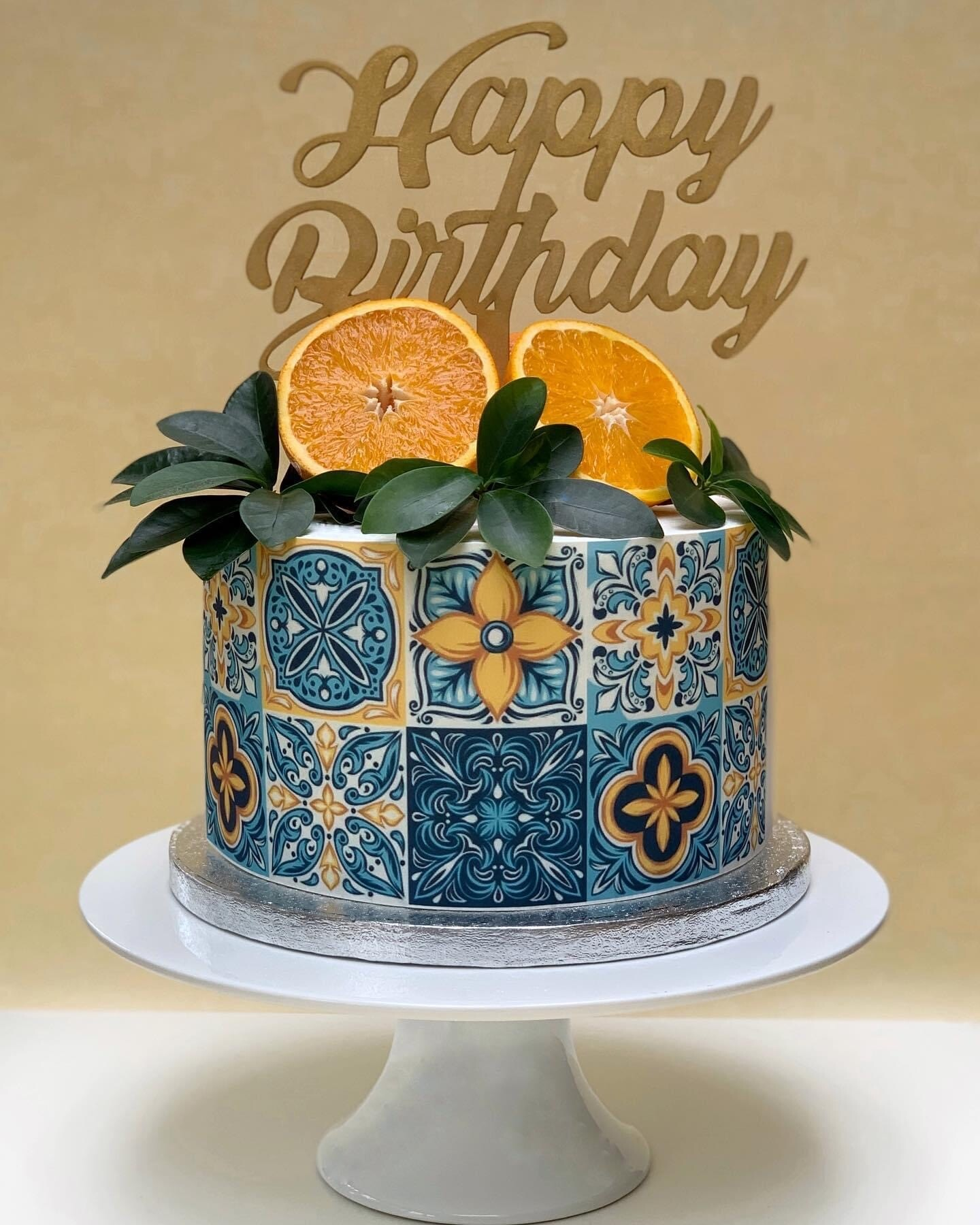 Orange Design Tiles – Edible Print Icing