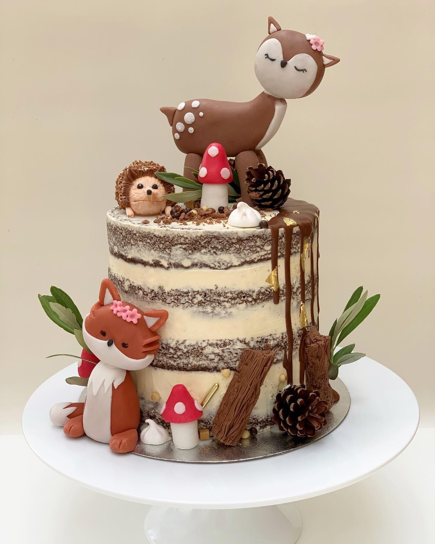 Forest Semi Naked Cake