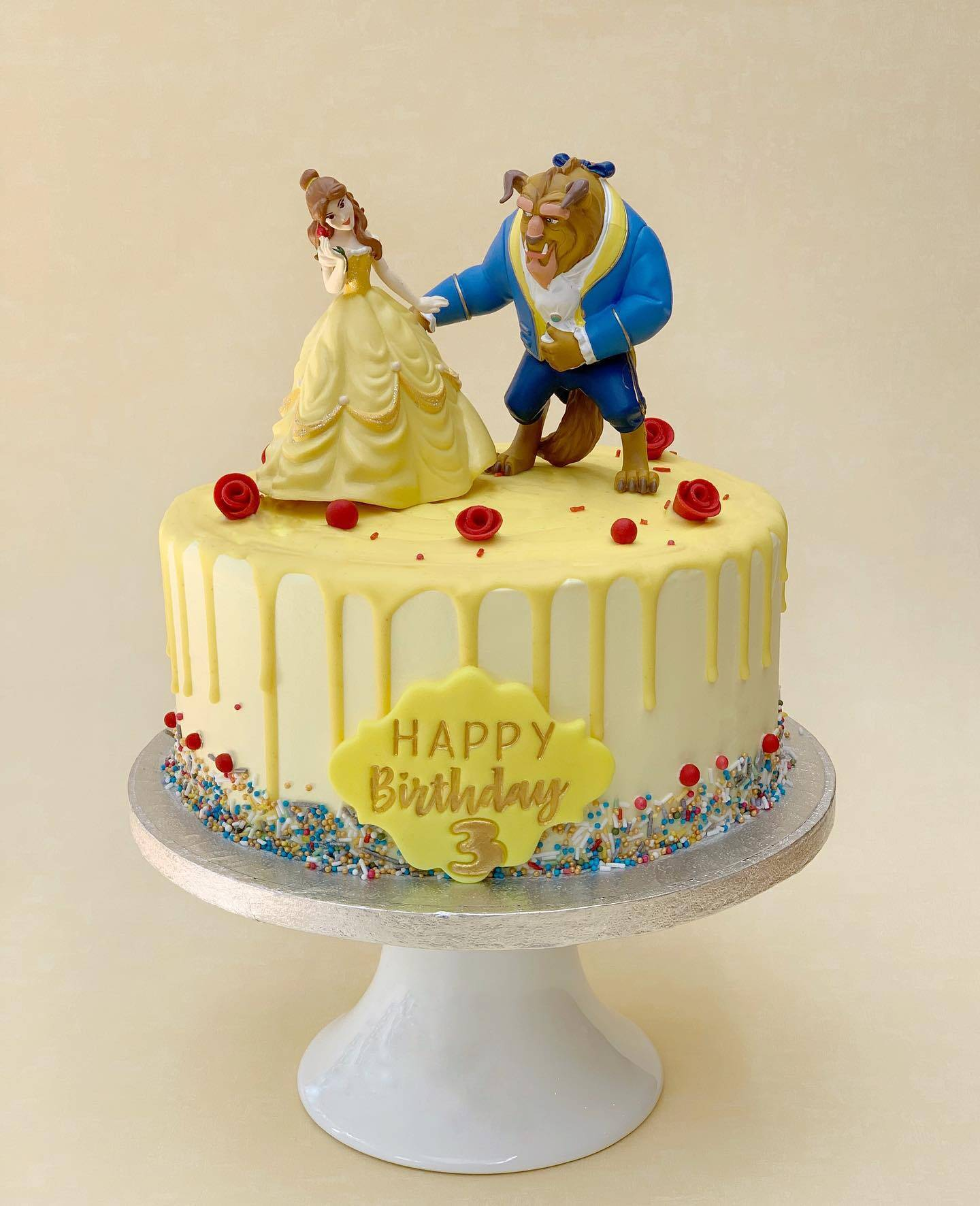 The Beauty and the Beast Birthday cake, Red Velvet