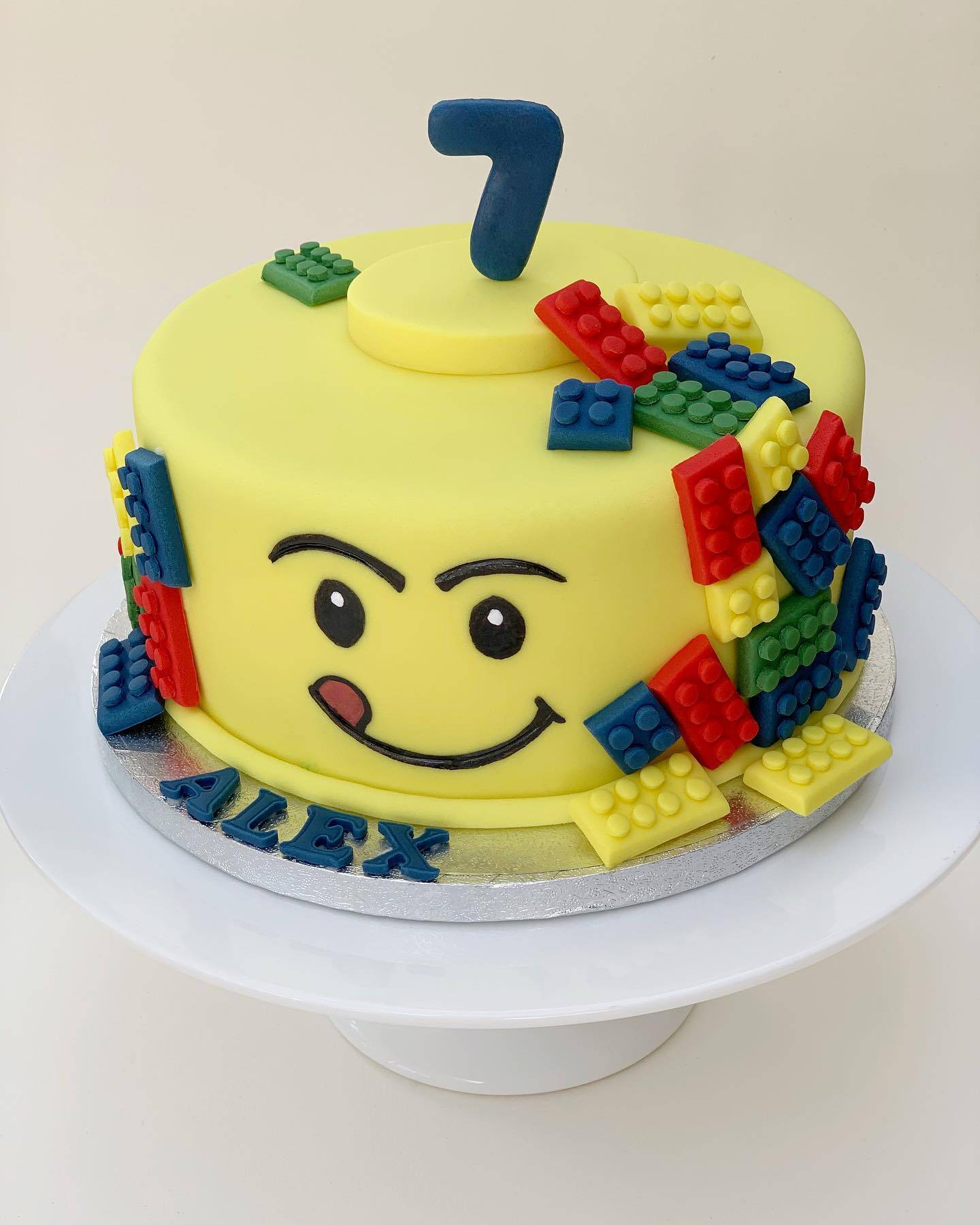 Lego cake, vanilla sponge and Nutella buttercream