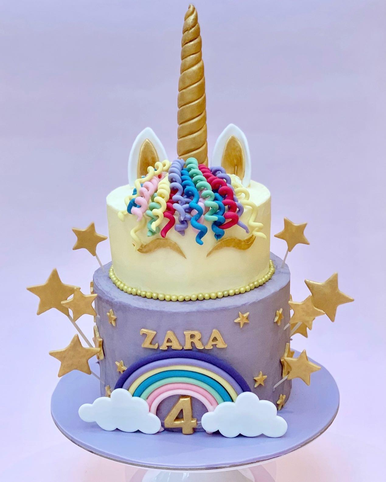 Unicorn Cake with Stars